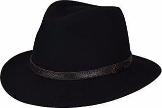 Country Gentleman Mens Hamilton Drop Brim Fedora Hat, Black, M