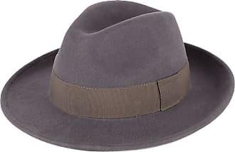 Hat To Socks Elegant Grey Wool Fedora Hat Waterproof & Crushable Handmade in Italy