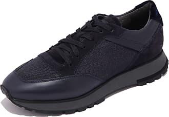 Santoni 5264AB Sneakers Uomo Suede Blue Shoe Men [7.5]