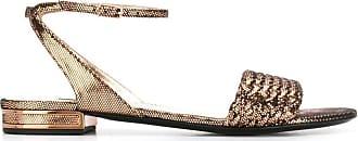 Casadei Sandália metalizada - Dourado