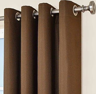 Eclipse 12972052084CHC Dane 52-Inch by 84-Inch Grommet Blackout Single Window Curtain Panel, Chocolate