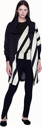 Akris Parka in Silk Taffeta with Diagonal Bold Stripes Patchwork