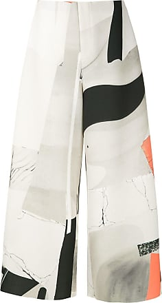 Osklen abstract print cropped trousers - Multicolour