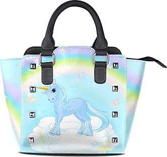 NaiiaN Handbags Light Weight Strap Tote Bag for Women Girls Ladies Student Flower Leather Rainbow Unicorn On Magic Purse Shopping Shoulder Bags