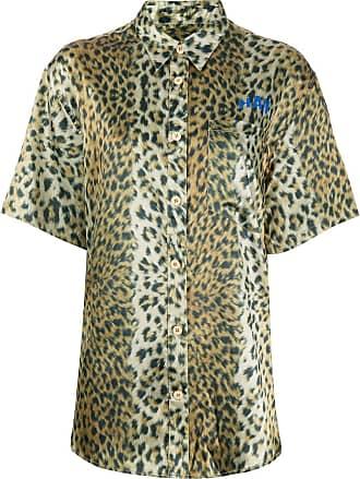 Han Kjobenhavn Camisa com estampa de leopardo - Amarelo