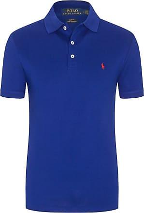 Polo Ralph Lauren Stretch Mesh Poloshirt, Slim Fit von Polo Ralph Lauren in Royal für Herren