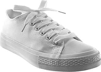 ab1ec52ffa932f Angkorly Damen Schuhe Sneaker - Tennis - Pastell Flache Ferse 1.5 cm - Weiß  PQ-