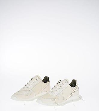 Rick Owens Leather VINTAGE RUNNER LACE UP Sneaker MILK/RIGHT Größe 40