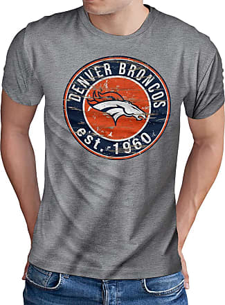 OM3 Denver-Badge - T-Shirt | Mens | American Football Shirt | XL, Heather Grey