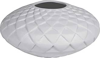 Sagebrook Home VC10296-02 Quilt Look Ceramic Vase, White Ceramic, 11.75 x 11.75 x 6.25 Inches