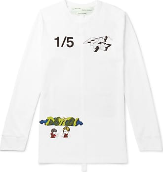 2054a369d64 Off-white Demon Printed Cotton-jersey T-shirt - White
