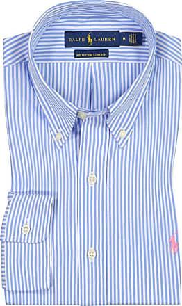 Polo Ralph Lauren Oberhemd mit Streifen, Cotton Stretch, Custom Fit von Polo Ralph Lauren in Hellblau für Herren