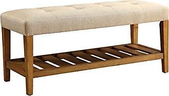 ACME 96682 Charla Bench, Beige & Oak, One Size