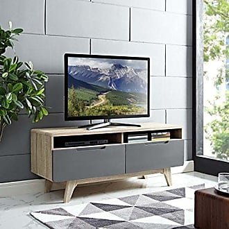 ModWay Modway Origin Mid-Century Modern 47 Inch TV Stand in Natural Gray