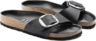Birkenstock Madrid Big Buckle Geöltes Leder Schwarz 10006523 - leather | black | 39 - Black/Black
