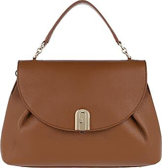 Furla Satchel Bags - Sleek M Top Handle Cognac - brown - Satchel Bags for ladies