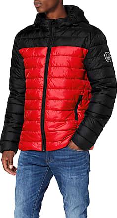 Only & Sons Mens Onssteven Quilted Hood Jacket OTW Noos, Orange (Aura Orange Detail: Colourblock), XX-Large