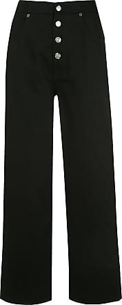 Maison Margiela Calça jeans reta cropped - Preto