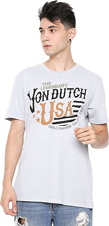 Von Dutch Camiseta Von Dutch Hollywood Cinza