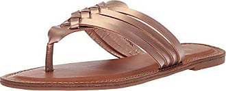 xoxo Womens Rimmie Flat Sandal, Rose Gold, M050 M US