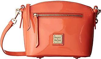 Dooney & Bourke Beacon Patent Domed Crossbody (Coral/Coral Trim) Handbags