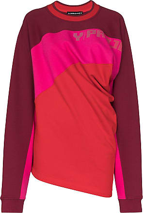 Y / Project twisted-front colour-block jumper - Vermelho