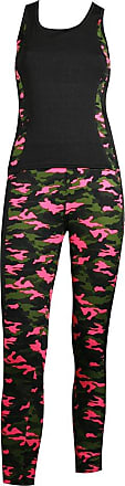 MySocks Womens Sportswear Leggings and Top matching Set Pink Camo
