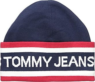 0f0b5f6b Tommy Hilfiger Tommy Jeans Mens Beanie Heritage Logo, Red/White/Navy, One