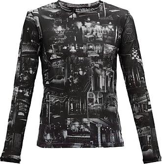 Y / Project Printed Sheer Mesh Long-sleeved T-shirt - Mens - White Black