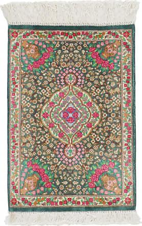 Nain Trading 41x29 Qum Silk Rug Dark Grey/Dark Brown (Iran/Persia, Silk, Hand-Knotted)