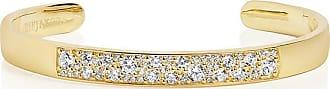 Sif Jakobs Jewellery Bangle Novara - 18k gold plated with white zirconia