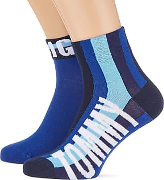 Tommy Hilfiger Mens 3 Pair Ankle Socks Uk9-11//EU43-46 White//Blue//Red