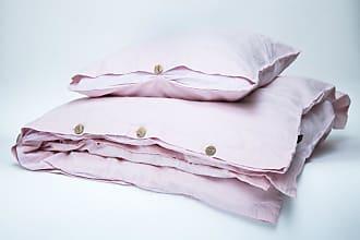 Dreamon Flax Bedding Set Pink Stripe