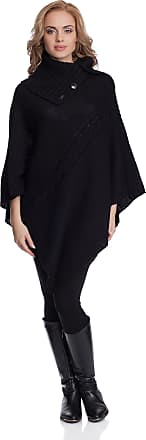 Merry Style Womens Poncho 2V3T1 (Black, One Size)
