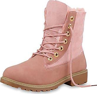 Damen Worker Boots Stiefeletten Stiefel Booties Schnürschuhe