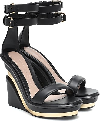 Alexander McQueen Wedge-Sandalen aus Leder