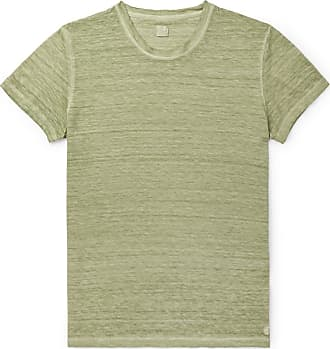 120% CASHMERE Slim-fit Garment-dyed Linen T-shirt - Green
