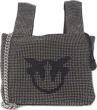 Pinko GRAY BAG FULL STRASS SHOULDER BAG Women Nero UNI