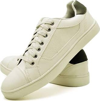 Juilli Sapatênis Sapato Casual Masculino Com Cadarço JUILLI 04DB Tamanho:37;cor:Branco;gênero:Masculino