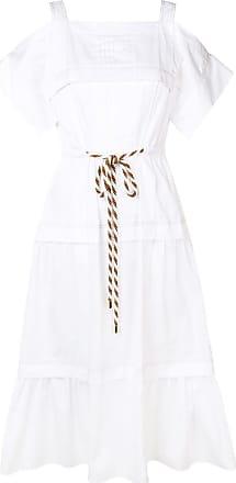 Peter Pilotto cold-shoulder dress - Branco