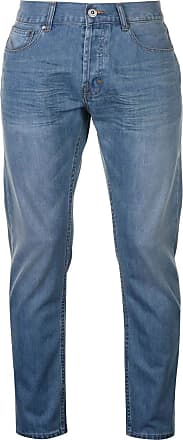 Firetrap Mens Rom Jeans Casual Cotton Trousers Pants Slightly Distressed Look Light Wash 32W S