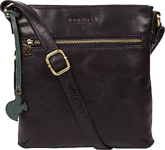 Pure Luxuries London Conkca London Yayoi Womens 22cm Biodegradable Leather Cross Body Bag with Zip Over Top, 100% Cotton Lining and Adjustable Slimline Leather Strap in Na