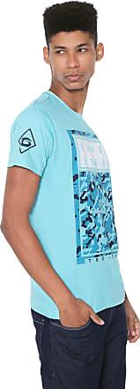 Gangster Camiseta Gangster Estampada Azul