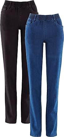 Bonprix Dam Stretchbyxa (2-pack) i blå - bpc collection c99ed0bfd1fcf