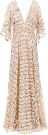 Tufi Duek Vestido longo tule bordado - Rosa