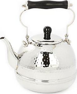 Old Dutch International Hammered Stainless Steel Teakettle with Wood Handle, 2 Qt. (618)