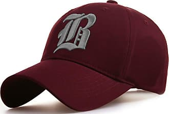 4sold Casual Baseball Gothic B Letter Cap Caps Snap Back Hat Hats Snapback (B Maroon Gray)