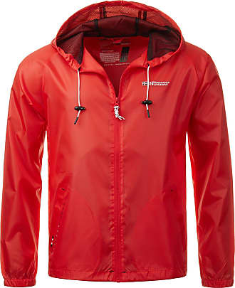 Geographical Norway Mens Rain Jacket Transition Windbreaker Outdoor Rain Jacket - Red - X-Large