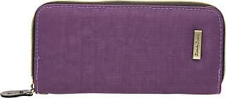 Swankyswans Riley Nylon Womens Zip around Wallet Purse - SwankySwans (Purple)