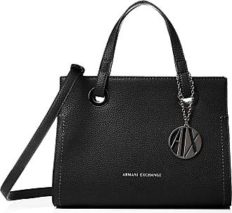 A X Armani Exchange Small Shopping Bag, Womens Tote, Black, 20x13x26 cm (B x H T)